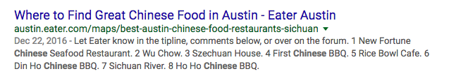 Chinese Food Austin Search