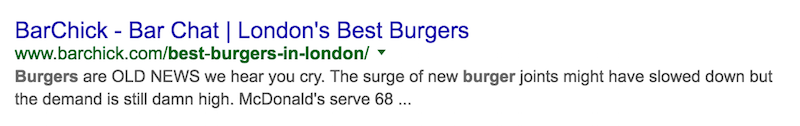 Best Burgers In London Bad Google Search