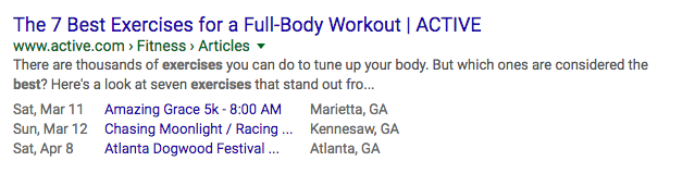 Exercise All Time Search